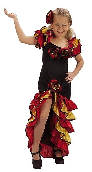 Disfraz de sevillana para niña 7-9 años (122/134): Amazon.es ...