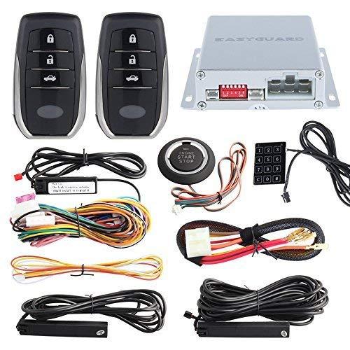 EASYGUARD EC002-T2 PKE car Alarm System keyless Entry auto Start Starter Push Start Button Password keypad Rolling Code Easyguard electronics ltd