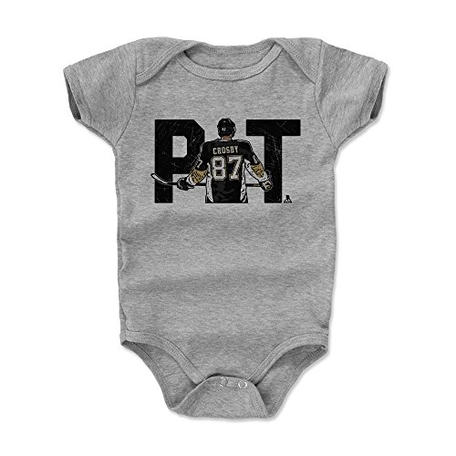 500 LEVEL Sidney Crosby Pittsburgh Penguins Baby Clothes, Onesie, Creeper, Bodysuit (3-6 Months, Heather Gray) - Sidney Crosby City K