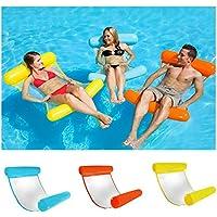 SHUNYUS Boia inflável para piscina, rede de água multiuso, flutua 4 em 1 (sela, poltrona, rede, saco), rede inflável…