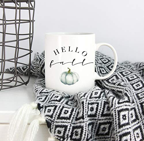 Hello Fall Mug, Fall Mug, Autumn Mug, Pumpkin