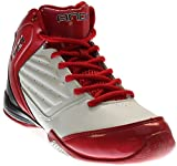 AND 1 Men's Master 2 Mid White/Varsity Red/Black Basketball Shoe - 10.5 D(M) US