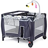 Baby Cot Bed with Changer Bed Newborn Bassinet Baby Playpen Portable Infant Crib Travel Playard Foldable Folding Pack Play Yard Toddler Cot Child Bag New