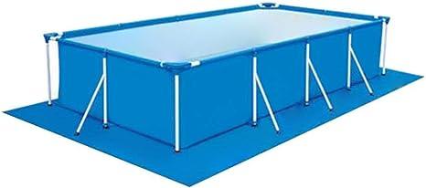 Yestter - Alfombra de suelo para piscina, alfombra de piscina hinchable, alfombra de suelo cuadrada para piscina, rectangular, de poliéster rectangular, plegable, 338x239cm: Amazon.es: Deportes y aire libre