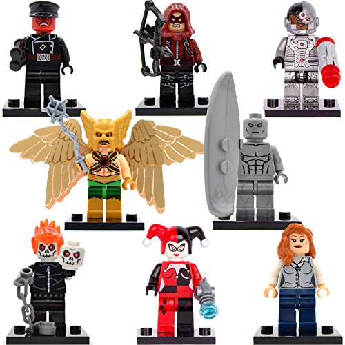 TONGROU 8pcs/lot--Marvel-Minifigures-Hawkman-Silver-Surfer-Building-kid-toy