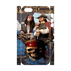 iphone5 5S 3D Cell Phone Case White Pirates of the Caribbean Plastic Durable Cover Cases derf6984667