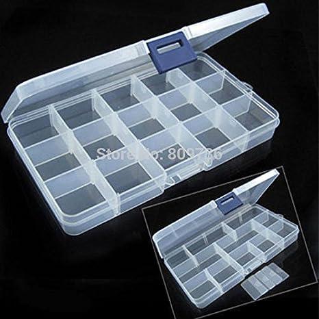 Laliva - Caja de almacenamiento de 15 compartimentos de plástico ...