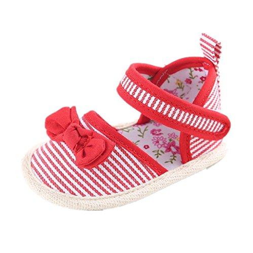 3 Rojo Cute Soft Bowknot Para Mes Sandalias Auxma Zapatos Niñas Prewalker 18 gxwCq7daO