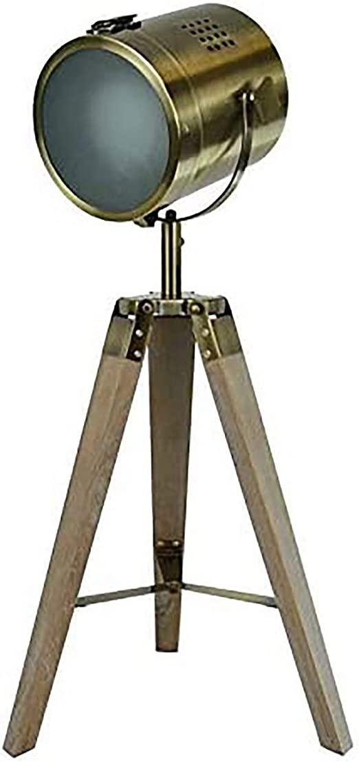 Lámpara de Pie Foco Vintage Estilo Industrial para Decoración de Estudios, Esparates, Hogar 66X32 cm: Amazon.es: Hogar