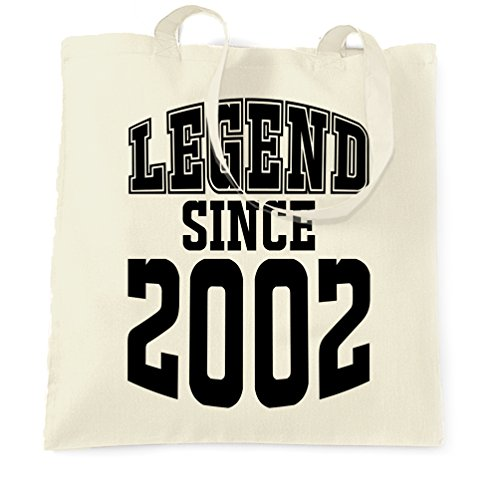 Tote Bag Since Birthday Legend 2002 Natural Shopping 16th UqAfx