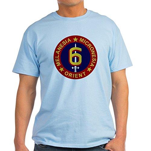 CafePress 6Th Marine Division 100% Cotton T-Shirt Light Blue