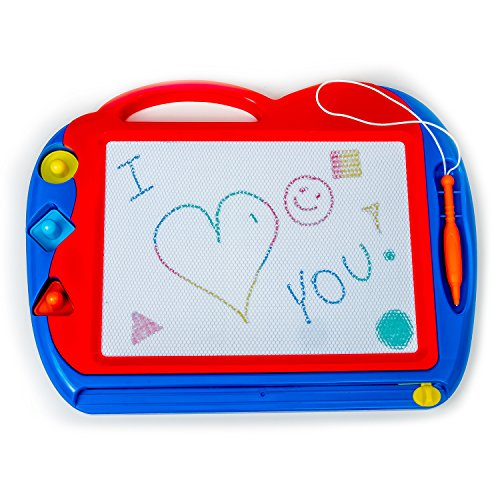 Magnetic Drawing Board Toy/Doodle Board for Kids, Best Children Writing (17 Black Classic Laptop Case)