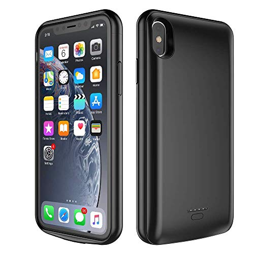 BEAOK iPhone Xs Max Battery Case, 5000mAh Rechargeable Battery Removable Battery Case Magnetic Top-Cover Anti-Broken Case Compatible iPhone Xs Max 6.5 inch -Black