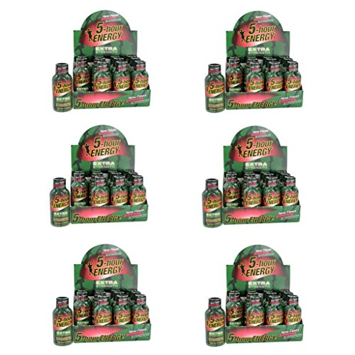 5 Hour Energy Shot Extra Strength Strawberry/Watermelon- 72 Pack of 2 Ounce Bottles by 5 Hour Energy