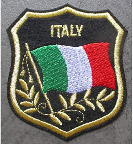 /Patch Wappen Italien 8/x 7/cm Ecusson-Band zum Aufb/ügeln itlian Flagge Biker hotrodspirit/