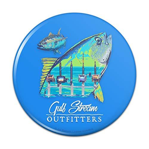 Gulf Stream Outfitters Yellowfin Ahi Tuna Ocean Fishing Compact Pocket Purse Hand Cosmetic Makeup Mirror - 2.25
