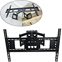 TV Wall Mount Bracket, BEAMNOVA Corner Articulating for most 32-55 Inch LED, LCD, OLED and Plasma Flat Screen TV, with Full Motion Swivel Articulating Dual Arms, up to VESA 400x400mm with Tilting