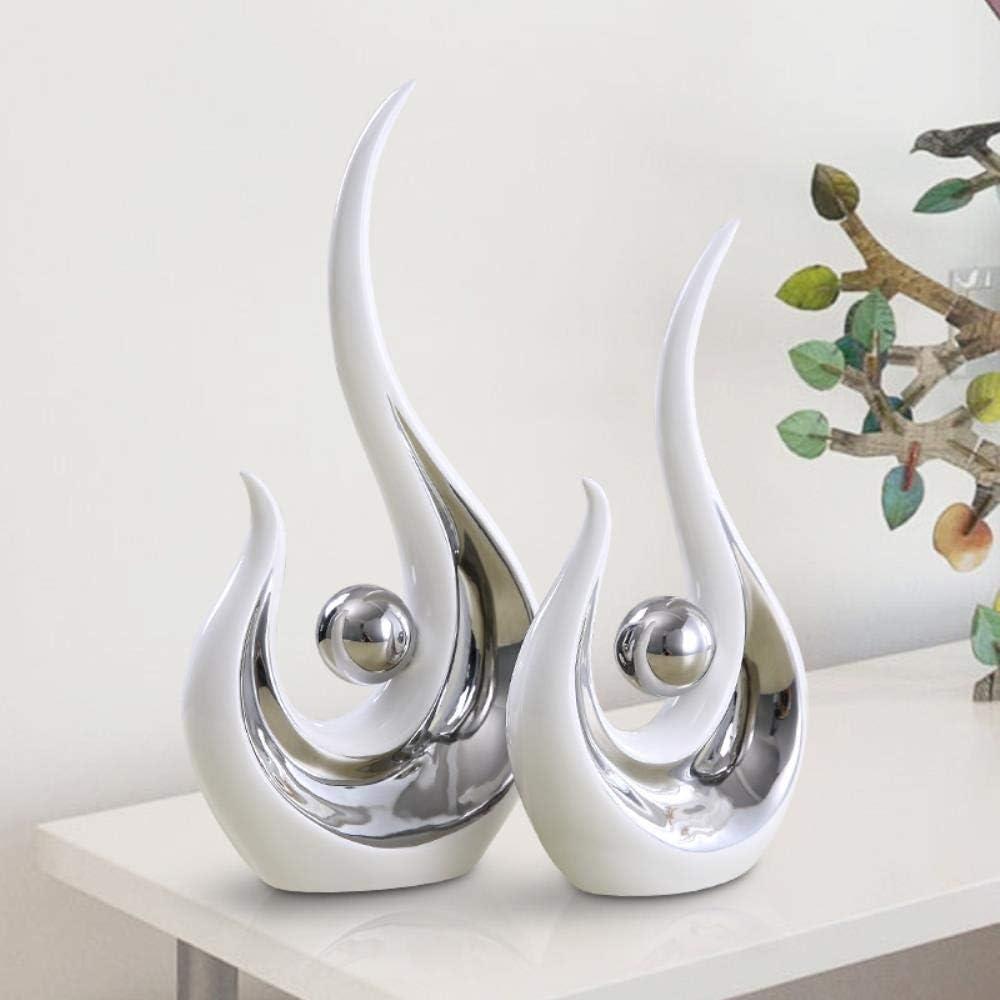 Artisanat AMITD D/écoration Moderne en c/éramique Minimaliste en Forme de statut Abstrait Style europ/éen pour d/écoration de Mariage Saint Valentin
