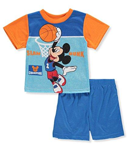 Disney Mickey Mouse Baby Boys' 2-Piece Outfit - Orange/Multi, 24 (Boys Jersey Short)