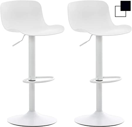 CLP Lot 2 Tabourets De Bar Almada en Plastique I Chaise De