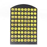YEYULIN Round Yellow Resin Emoji Stud Earrings Women Girl 36 pairs Jewelry
