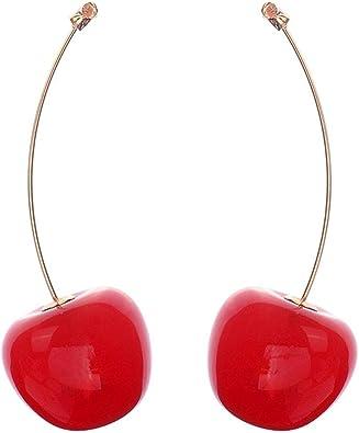 Ladies Sweet Resin Dangle Ear Stud Jewelry Gift Earring Fruit Women Girls Gifts