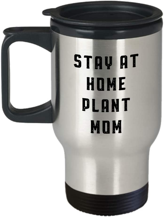 Florist Travel Mug - Stay At Home Plant Mom Tumbler - Funny Gardening Gifts For Men Women
