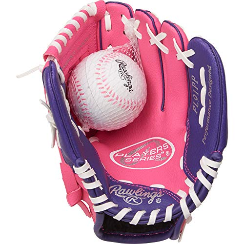 Glove Youth Baseball Pink - Rawlings Players Series Youth Tball/Baseball Glove (Ages 5-7)