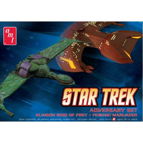 (AMT Star Trek Klingon Bird-Of-Prey & Ferengi Marauder Plastic Model Building)