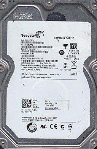 ST31000524AS, 6VP, SU, PN 9YP154-521, FW JC4A, Seagate 1TB SATA 3.5 Hard Drive