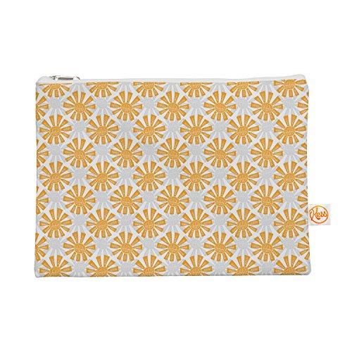Kess eigene 12,5x 21,6cm Apple Kaur Designs Sunburst Alles Tasche–Orange/Grau