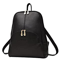Item Type:Backpack Outer Material: PUInner Material: Polyester Closure:ZipperSize:Approx10.2(L)*3.9(W)*12.6(H)inchesOccasion:VersatileStyle:Fashion Note: For different measuring method,the size may exist 0.8-1.2inches tolerance,the color may ...