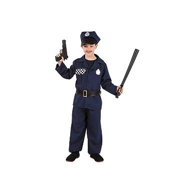 Disfraces FCR - Disfraz de policía talla 8 años: Amazon.es: Ropa y ...