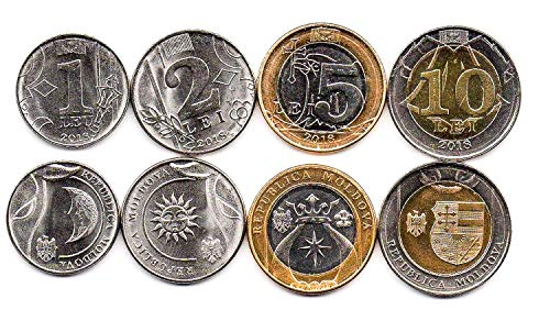 Moldova 4 Coins Set 2018 UNC 1 LEU - 10 LEI. Collectible Coins to Your Coins Album, Coin Holders OR Coin Collection from Hobby of Kings