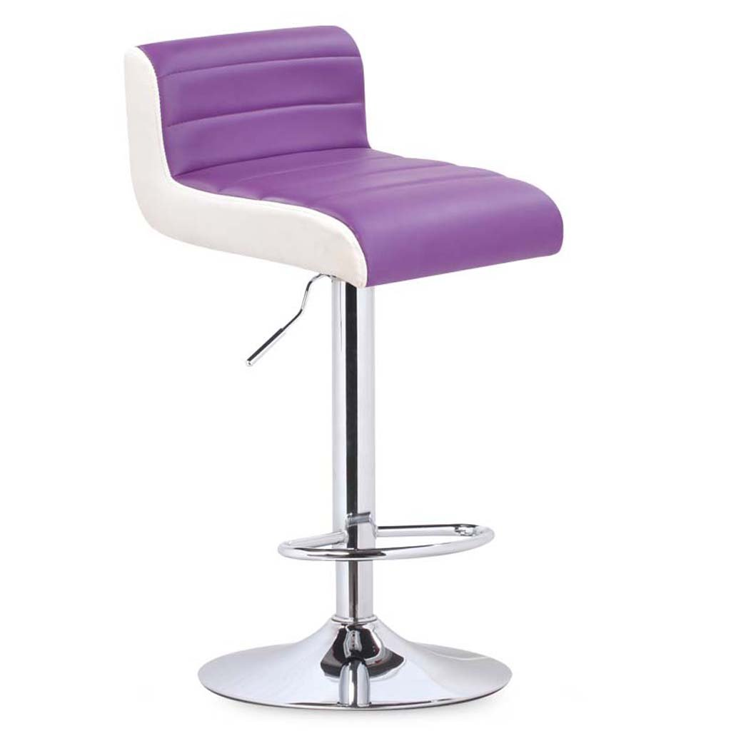 Purple GLJ Bar Chair Chair Lift redating Bar Chair backrest Stool Bar Stool (color   Yellow)