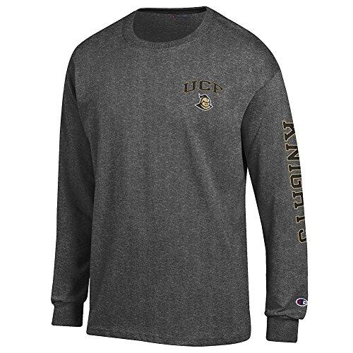 Fau Owls (UCF Knights Long Sleeve TShirt Letterman Charcoal - M)