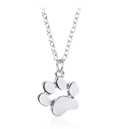 Lnlyin cute dog paw pendant necklace simple jewelry for women girls lnlyin cute dog paw pendant necklace simple jewelry for women girls mozeypictures Images