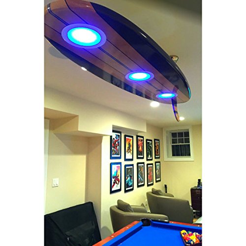 Amazon surfboard ceiling light for game rooms man caves bars surfboard ceiling light for game rooms man caves bars billiards aloadofball Image collections