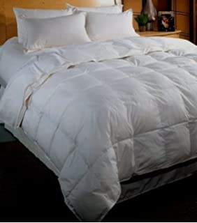 1500 Thread Count Baffle Box Light Weight Goose Down Comforter, White, California  King