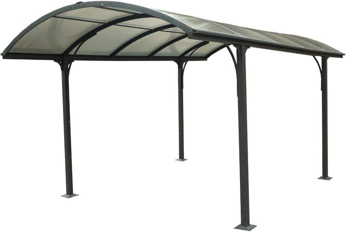 Carport - Carport Aluminium Toit 1/2 Rond Anthracite - 14.80 m²: Amazon.es: Bricolaje y herramientas