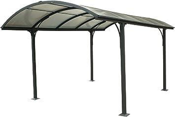 Carport - Carport Aluminium Toit 1/2 Rond Anthracite - 14.80 m² ...