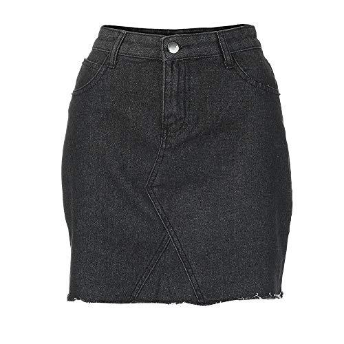 Femmes Imjono Haute Taille Jupe Bodycon Hanche Crayon Sexy Noir Mini En jupe Jean CourteCasual UVzpSM