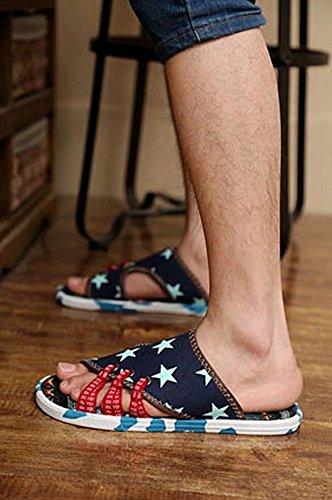 Pantofole Da Uomo - Scarpe Da Uomo Sandali - Sandali - 21 Blu