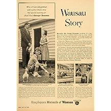 1955 Ad Employers Mutual Insurance Wausau Story Clement - Original Print Ad