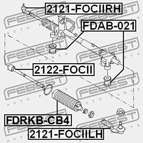 2122-FOCII Febest ROTULA AXIAL DE DIRECCI/ÓN