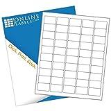 Online Labels - 1.5'' x 1'' Rectangle Barcode Labels - Pack of 5,000 Labels, 100 Sheets - Inkjet/Laser Printer