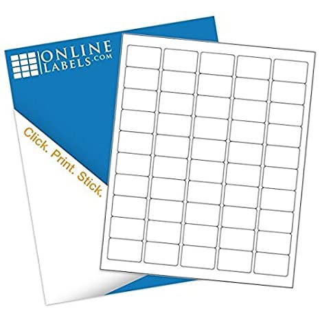 graphic about Printable Stickers Staples titled 1.5 x 1 Rectangle Barcode Labels - Pack of 5,000 Labels, 100 Sheets - Inkjet/Laser Printer - On-line Labels