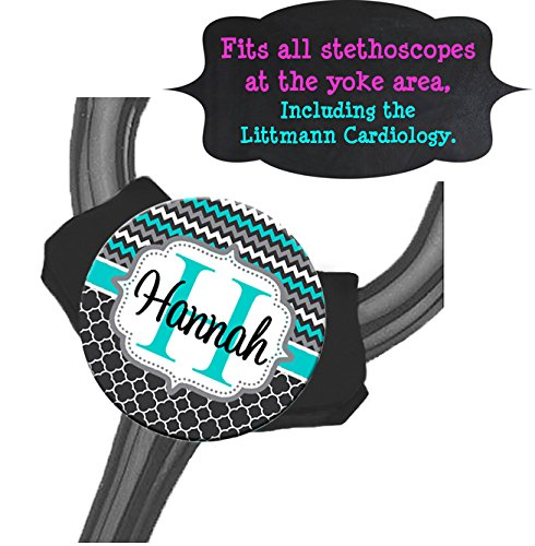 Yoke Stethoscope Tag - Chevron Trellis - Steth ID Tag