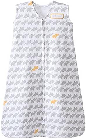 Halo HALO SleepSack Wearable Blanket 100% Cotton Elephant Graphics, LG - Grey