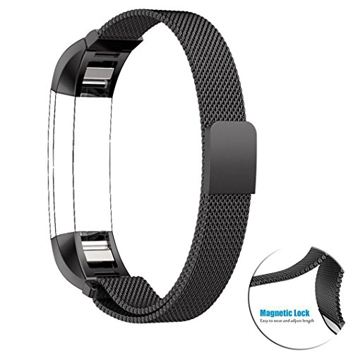 Fitbit Alta (HR) Bands, No1seller Magnetic Milanese Loop Stainless Steel Magnet Closure Lock Bracelet Strap Band Watch Band For Fitbit Alta and Fitbit Alta HR Fitness Tracker